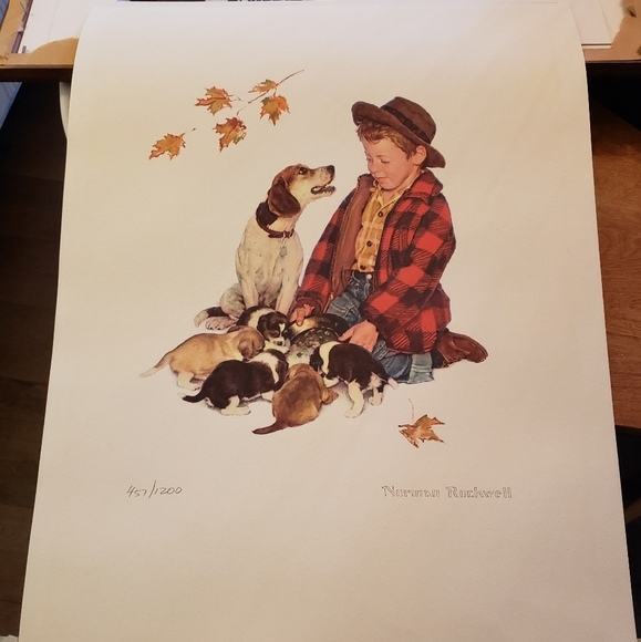 Norman Rockwell Numbered Print